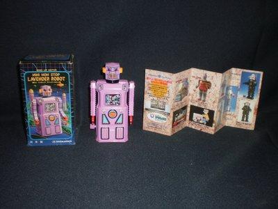 【1997日本製發條機器人MINI  NON  STOP  LAVENDER  ROBOT】〈新〉  庫479