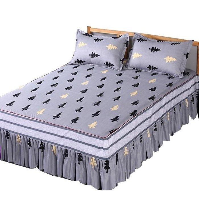 麥麥部落 床罩組席夢思180X220公分床罩床套床裙單件公主床蓋床單床MB9D8