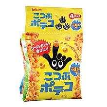 +東瀛go+ Tohato 東鳩 4連 迷你手指圈圈餅 鹽味 64g 手指圈圈餅 日本餅乾 日本進口