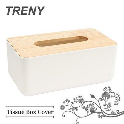 【TRENY直營】極簡原木面紙盒 方型 木質蓋 北歐風 收納 面紙套 衛生紙盒 抽取式面紙 KLW-6671