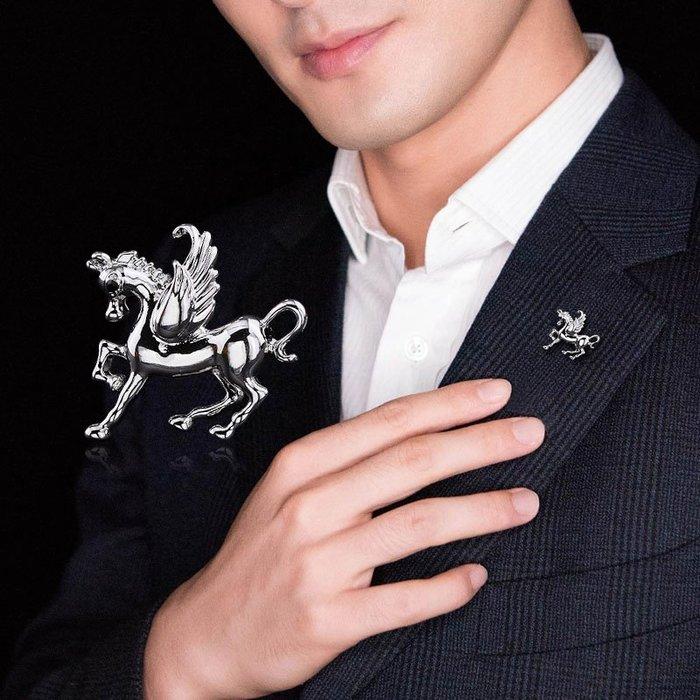 小胸針男士西裝胸口裝飾胸花扣針襯衫領扣領針金屬徽章馬xongzhen