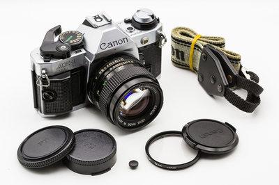 二手新中古:經典CANON AE-1P銀+NFD 50mm F1.4大光圈 輕巧文青相機135底片機9成新A1
