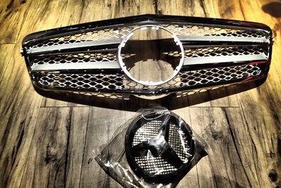 DJD20060901 賓士BENZ W212 [黑框電鍍] 前期 水箱罩 水箱護罩 專用款 E250 E350 E63