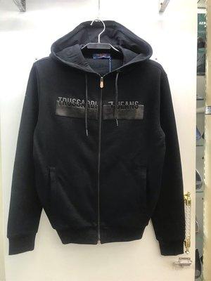 Trussardi jeans 黑灰兩色 Logo 刷毛 連帽外套 全新正品 男裝 歐洲精品
