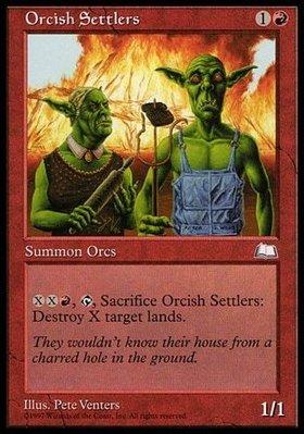 魔法風雲會 晴空號傳說 Weatherlight Orcish Settlers