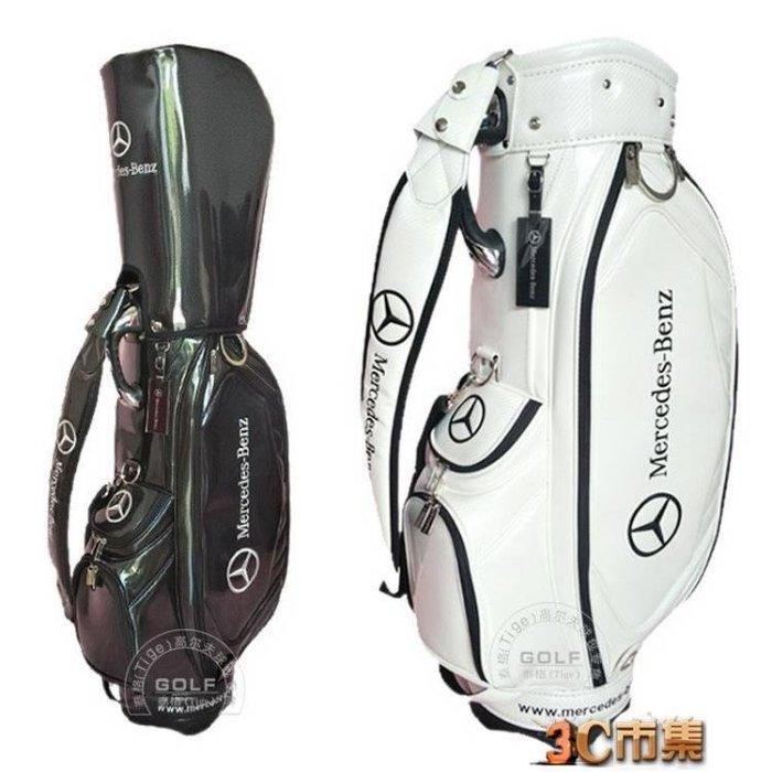 2018新奔馳Benz球袋男女情侶標準球桿包golf桶包水晶PU高爾夫球包
