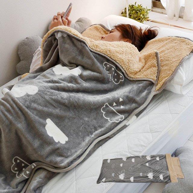 睡袋【多款花色】法蘭絨羊羔絨睡袋毯(單人款)-絲薇諾