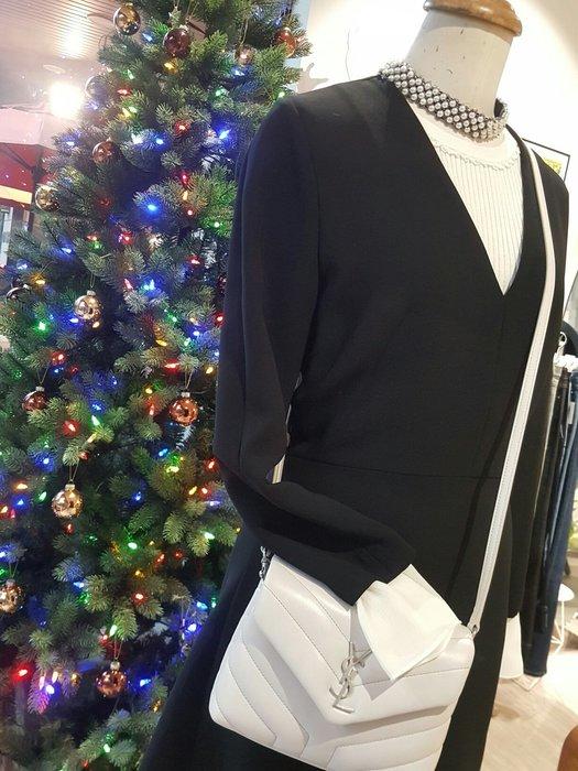 [ RainDaniel ] SANDRO 法國輕奢品牌 水鑽簍空深V領 修身洋裝