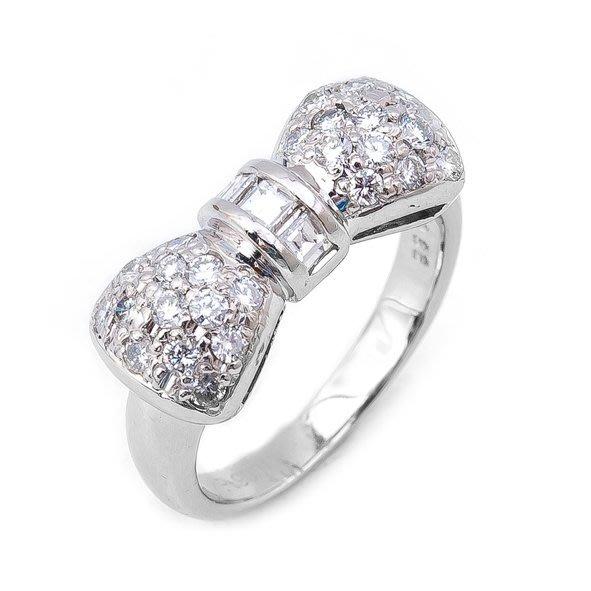 【JHT 金宏總珠寶/GIA鑽石專賣】0.66ct天然鑽石造型拼鑽戒指/材質:PT900(JB38-C13)