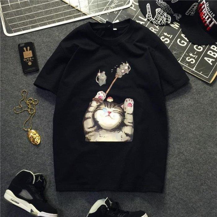 ☜男神閣☞春夏ulzzang韓國bf風港味chic潮萌男女學生寬鬆棉質短袖T恤情侶裝