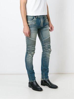 現貨.Balmain 藍色破壞牛仔褲.日本製