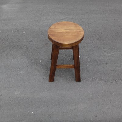C031 {崙頂傳統原木家具行}~杉木實木四邊形圓凳椅 多張可議 有現貨