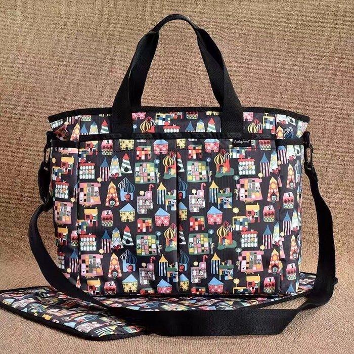 LeSportsac 小象樂園 媽媽包媽咪包手提單肩包斜背包7532 附同款尿布墊 限時優惠