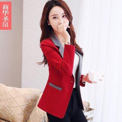 櫻花SHOP 西裝外套 春裝新款女士小西服長袖修身韓版氣質上衣小西裝外套女短款潮YH863