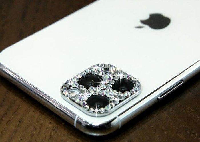 鏡頭保護膜 iPhone 11 Pro/Pro max 通用 炫彩 鑲鑽 鏡頭圈 鏡頭 保護圈 保護圈 白色水鑽鏡頭貼