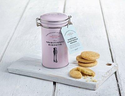 英國代購 CARTWRIGHT & BUTLER C&B 金砂糖手工酥餅-鐵罐200g