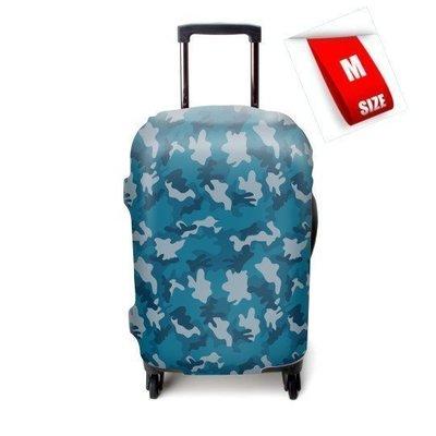 【Lucky G】藍色迷彩 行李箱保護套 彈力箱套 出國旅行 收納 EMINENT CROWN Commodore適用