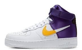 POMELO柚 Nike Air Force 1 High NBA  湖人隊配色 白紫色 BQ4591-101