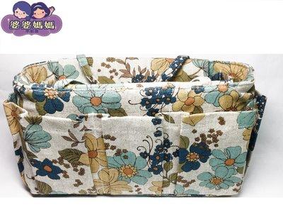 【露西小舖】╭*手作限量(花兒朵朵開,中H)❤日雜熱銷款❤袋中袋包中包收納袋收納包多功能包整理袋整理包手拿包手提包分類包