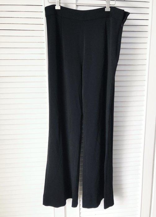 義大利製 Missoni 黑色寬管闊腿褲