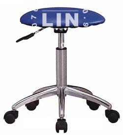【品特優家具倉儲】A597-14吧台椅檯椅洽談椅圓墊電鍍櫃檯椅
