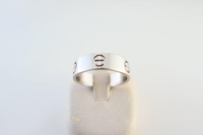 [吉宏精品交流中心]CARTIER 卡地亞 B4084755 LOVE 螺絲 寬版 18白K金 55號 戒指(盒卡全)