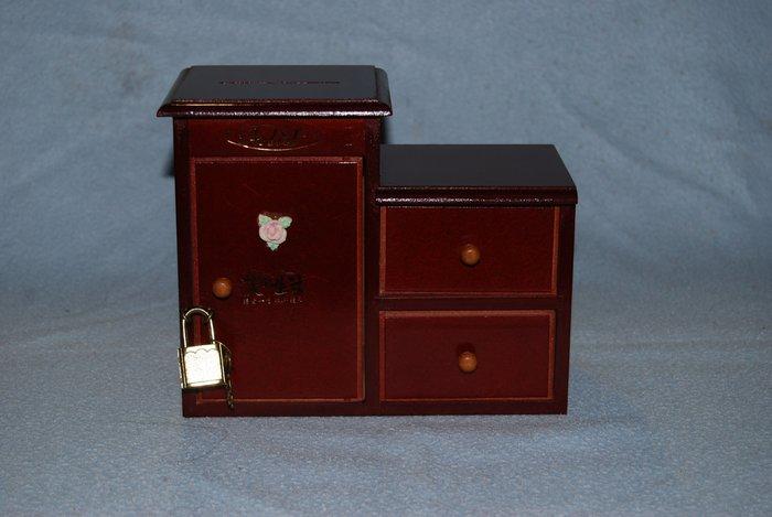 ◎石美社◎木質存錢筒小收納櫃