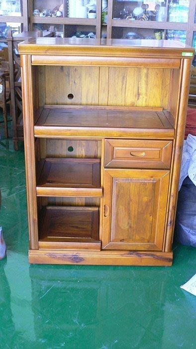 樂居二手家具 原木傢俱大特價 ZH805*全新樟木碗盤櫥櫃*實木電器架/高低櫃/收納櫃/酒櫃/書櫃展示櫃客廳廚房傢俬