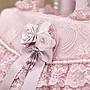 粉紅玫瑰精品屋~🌸復古宮廷 純手工縫製🌸華麗手工精緻蕾絲珍珠粉色手提包🌸🌸