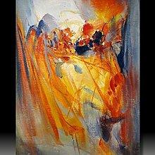 【 金王記拍寶網 】U983  朱德群 款 抽象 手繪原作 厚麻布油畫一張 罕見 稀少 藝術無價~