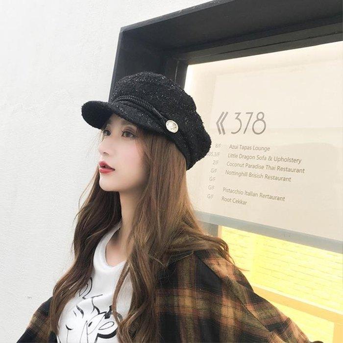 韓版新款小香風帽子女潮百搭時尚貝雷帽春秋海軍帽女英倫