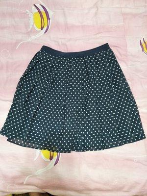 【A232】~專櫃精品~UNIQLO 藍底白點短裙