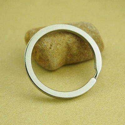 G-044 扁圈 32mm 不銹鋼 扁款鑰匙圈 實用手工材料 單個鑰匙圈 鑰匙鏈配件 奶嘴鏈連接扣 飾品配件 耐用實用