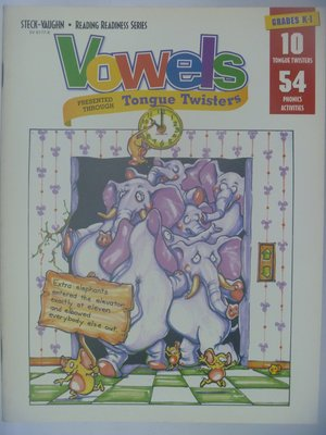 【月界二手書店】Vowels(Reading Readiness)_原價210 〖少年童書〗CEP