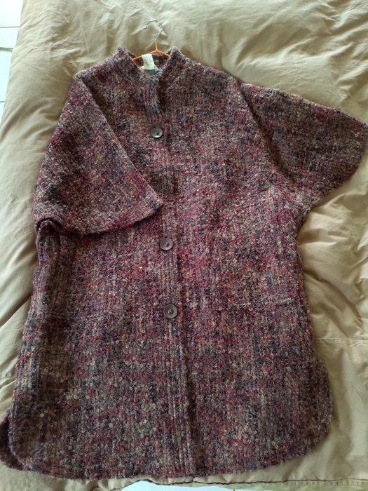 ~櫻花雨~日本設計師款 Beldelica 造型羊毛 毛海大罩衫型外套 F號 73%羊毛 民族風