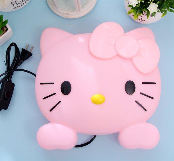 創意卡通可愛凱蒂貓HelloKitty 臥室裝飾臺燈過道床頭壁燈小夜燈