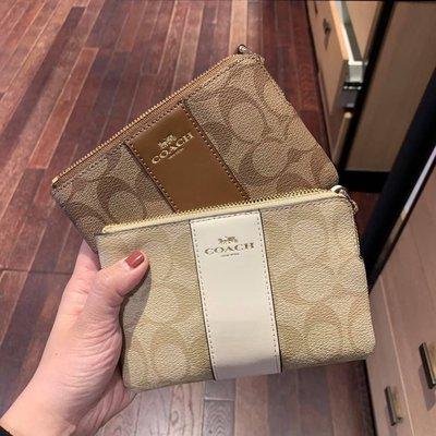 全新正品 COACH 58035 女士零錢包 皮夾 手拿包 鑰匙包 經典C紋logo 錢包 拉鏈錢包 零錢袋