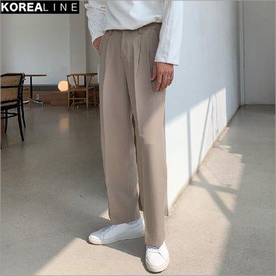搖滾星球韓國代購  細褶紋寬版西褲 / 3色 GP3101