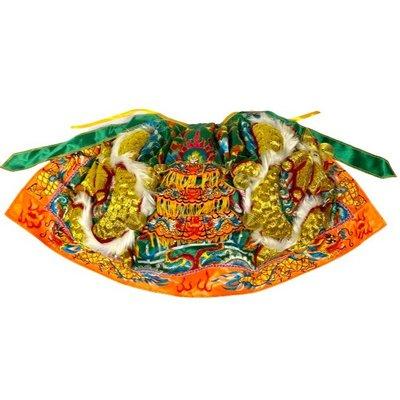 綠色龍袍/上衣龍袍/1尺3神明穿 (1尺2寸長) /關公/關聖帝君/神明衣