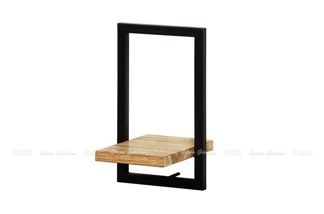 柚木鐵件 日字組合壁架E(W20)【大綠地家具】100%印尼柚木實木/工業風/置物架/DIY組裝