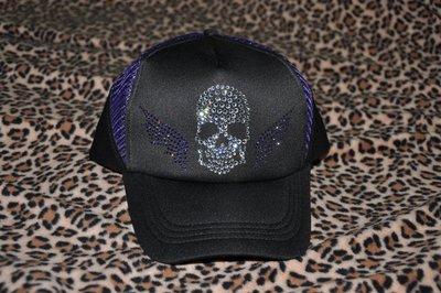 CON LONG 施華洛世奇水晶燙鑽訂做網帽(惡魔骷髏)客製訂作價$1300