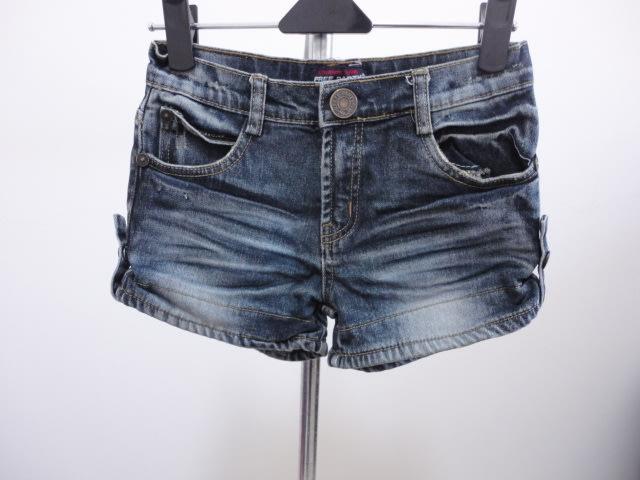 99元起標~FREE RARTY~保暖刷毛牛仔短褲~藍色~SIZE:13