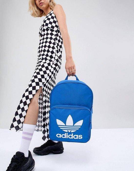 限時特價南 2019 11月 Adidas CLASSIC 愛迪達 運動後背包 藍色 三葉草 BK6722 基本款 男女
