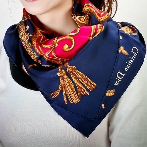 【姊只賣真貨】Christian Dior 名媛貴婦的最愛華麗流蘇墜飾(大)領巾