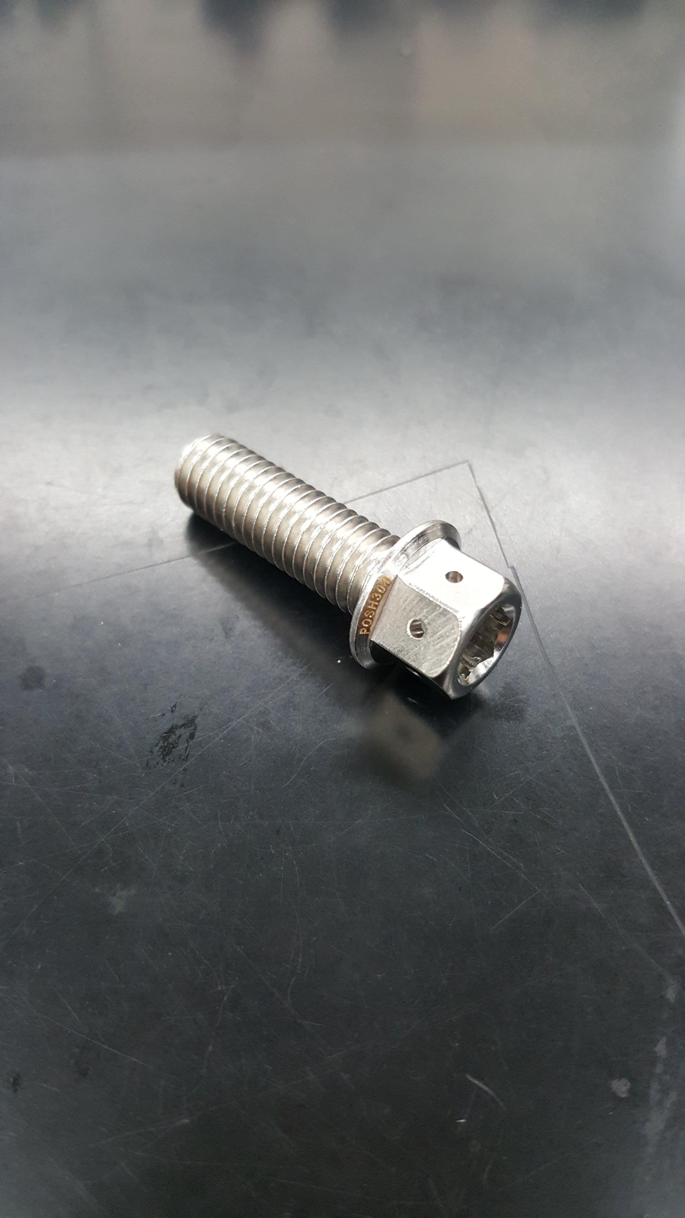 POSH 8*25 8X25 白鐵螺絲/白鐵內外六角 非鈦合金