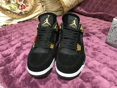 Air Jordan 4 Royalty AJ4 黑金 麂皮 籃球鞋 男女鞋 308497-032
