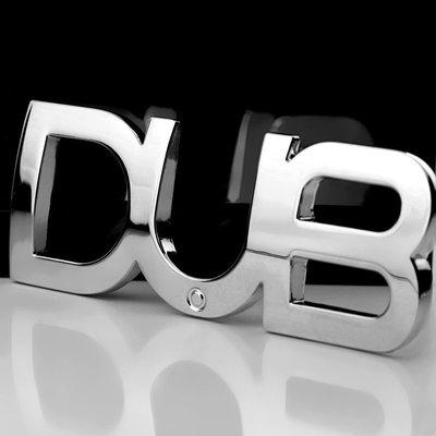 汽車個性車標 DUB改裝金屬車貼 Double dime車身貼 葉子板尾標貼