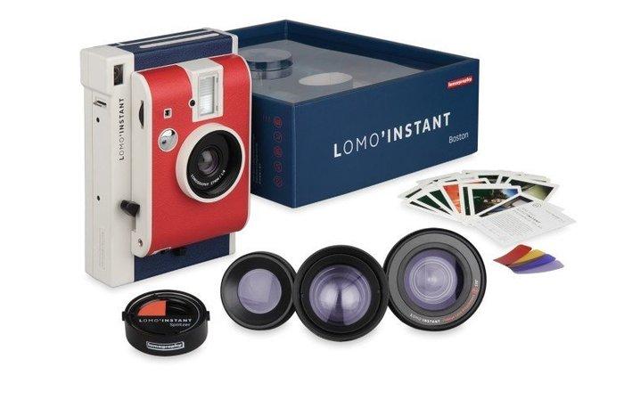 【eWhat億華】Lomography Lomo Insntant LOMO 拍立得 限量波士頓版 桃紅色  搭 三款鏡頭組 公司 類 MINI90 特價【1】