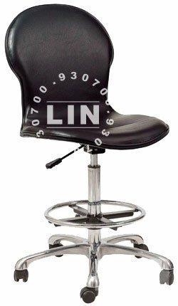 【品特優家具倉儲】S088-09吧台椅櫃檯椅雅姿電鍍踏圈櫃檯椅