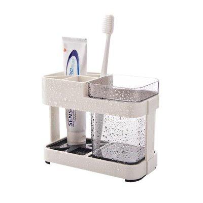 情侶簡約漱口杯套裝 塑料置物牙刷架牙刷杯創意刷牙杯家用牙缸